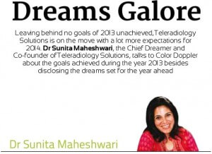 Dr. Sunita Maheshwari for Color Doppler Magazine, Dreams Galore