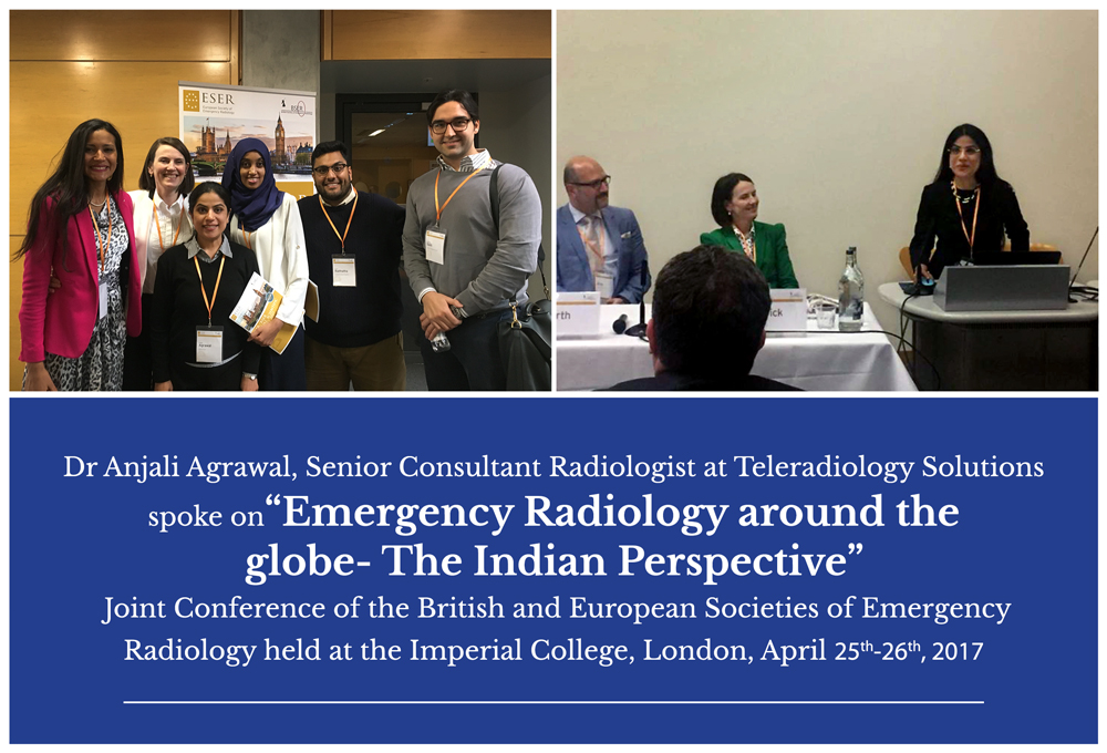 Dr Anjali from Teleradiology Solutions at BSER - ESER - Emergency Radiology Conference London