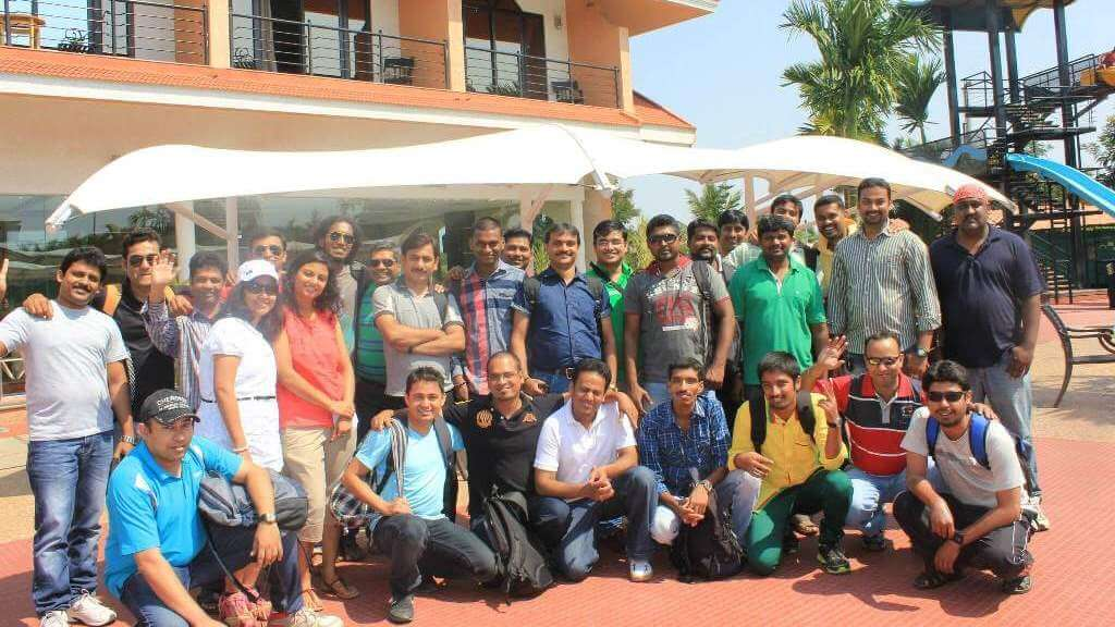 Teleradiology Solutions employee group photo during company outing
