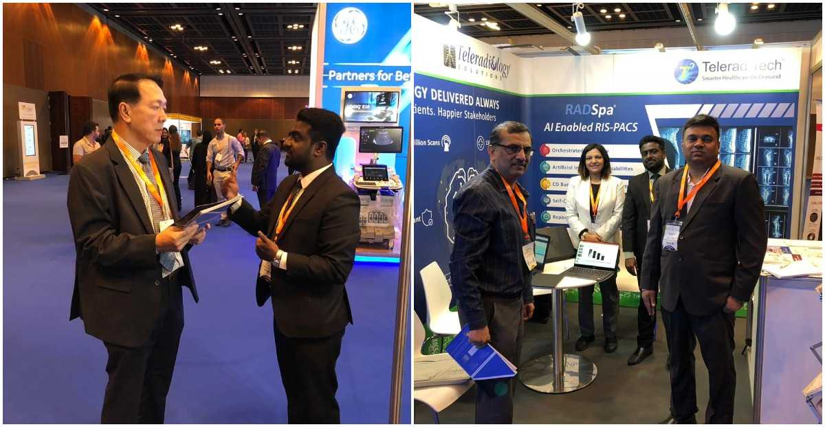 Our team with booth visitors at ARM 2018