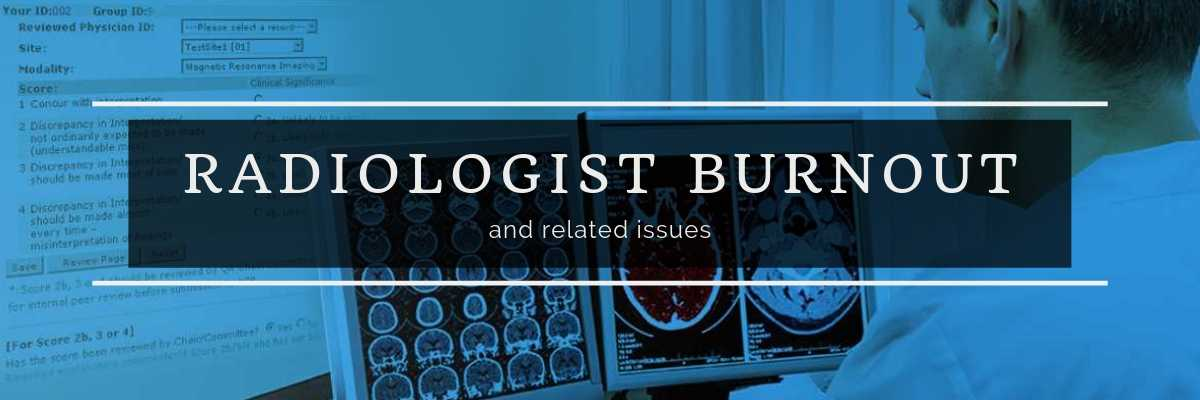 Radiologist burnout - blog banner